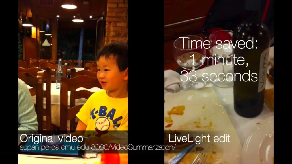 LiveLight, 기계학습 이용한 동영상 자동 요약 프로그램