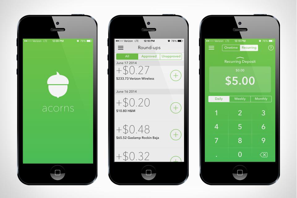 Acorns: 물건사고 남은 거스름돈을 투자해 주는 앱