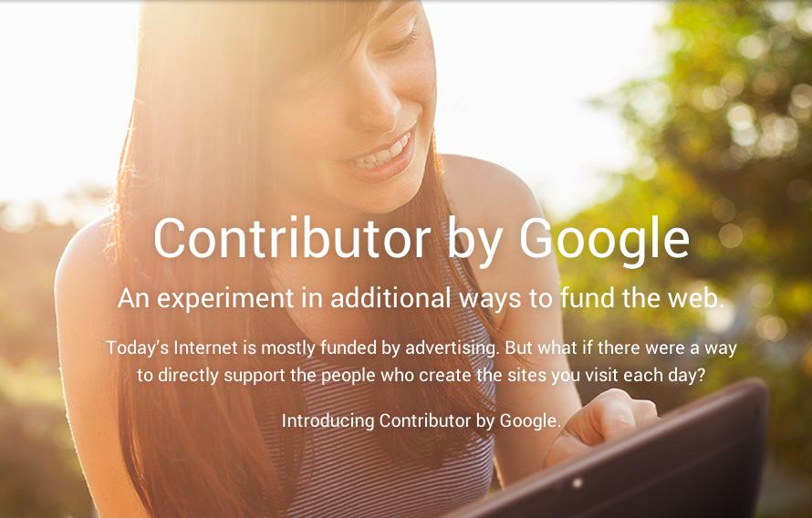 Google Contributor: 웹 퍼블리셔를 위한 크라우드 펀딩