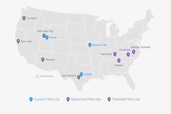 구글 Fiber, 아틀란타를 비롯한 4개 새로운 지역으로 확장