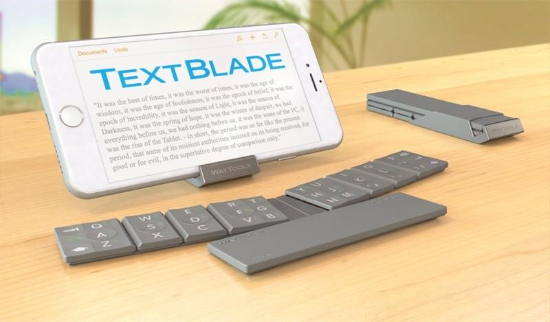 TextBlade: 혁신적인 휴대용 (물리적) 키보드